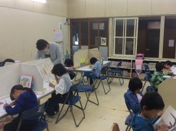 休校中の学習や活動の様子
